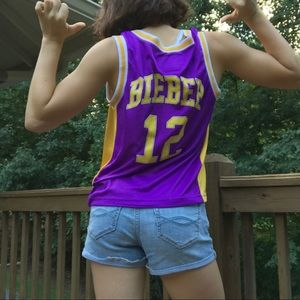 Tops - Justin Bieber 2012 Believe Tour Swaggy Jersey