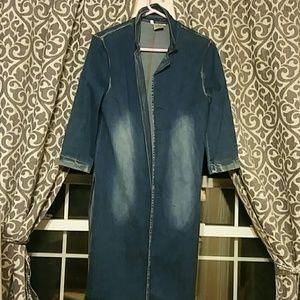 Jackets & Blazers - Jean jacket -long cover