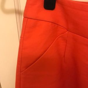 J. Crew Pencil Skirt in Coral