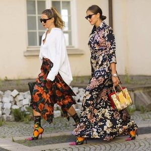 NEW Zara Stretchy Floral Sock Heels Boots Sz 40