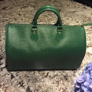 Handbags - Epi 35, green leather.  Excellent condition