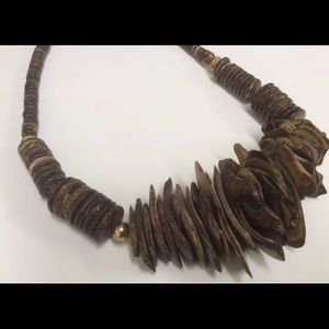 Jewelry - Chunky Necklace Made of Polished Coconut Shell