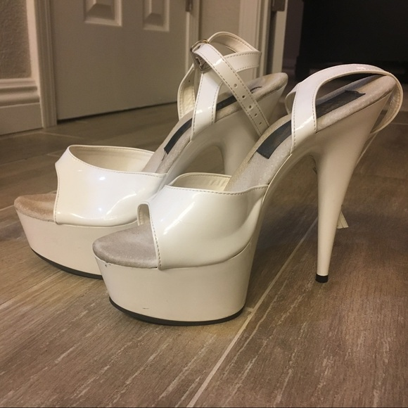White Foot Worship Pole Shoes Size 7