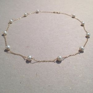 """Jewelry - 14K Cultured Freshwater Pearl Tin Cup 16"""" Necklace"""