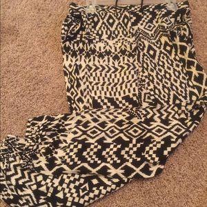 Drawstring Pants with Elastic hem