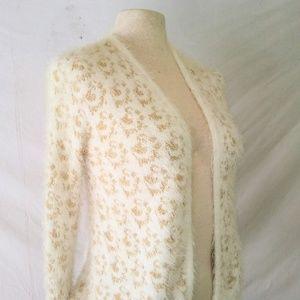 XOXO Fuzzy Cardigan Sweater