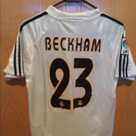 quality design bd1a8 0b3df David Beckham Real Madrid Soccer Jersey