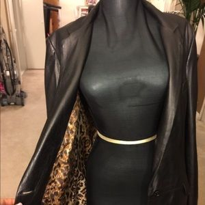 Dolce and Gabbana jacket with leopard interior