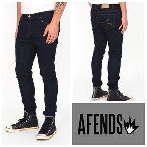 🆕Afends Junky Raw Indigo Skinny Fit Denim Jeans