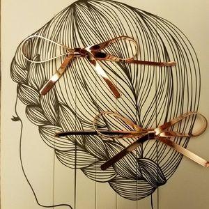 Accessories - Bronze Bow Hair Pins
