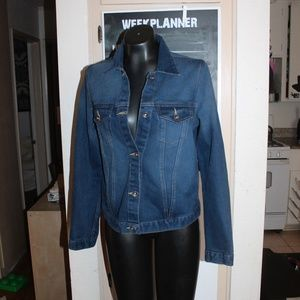 Jackets & Blazers - Denim Jacket dark with light wash jean jacket