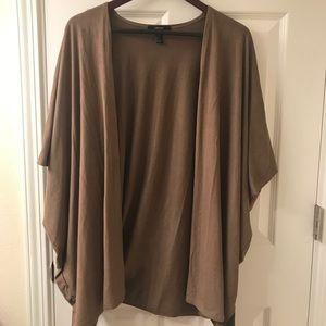 Suede kimono style jacket