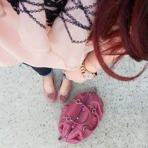 Coach 'Madison' Satchel Handbag in Mauve Rose Pink