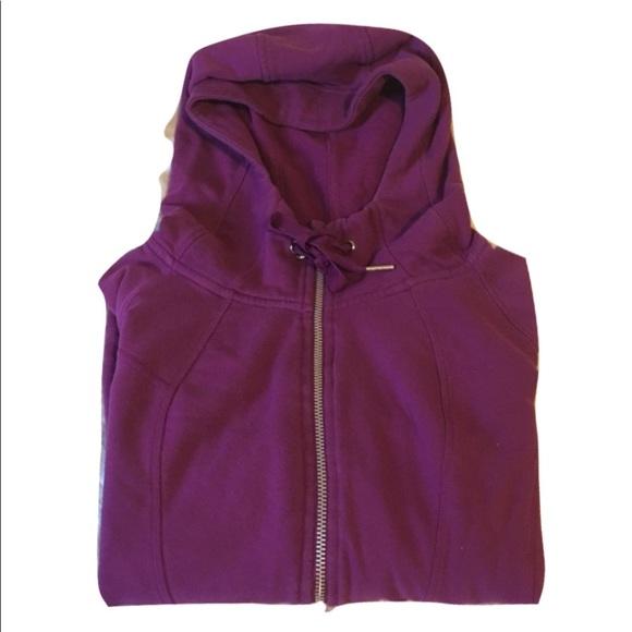 NWT Womens CHAMPION ELITE Full Zip Hoodie Hoody Sweater Jacket Size S M Purple