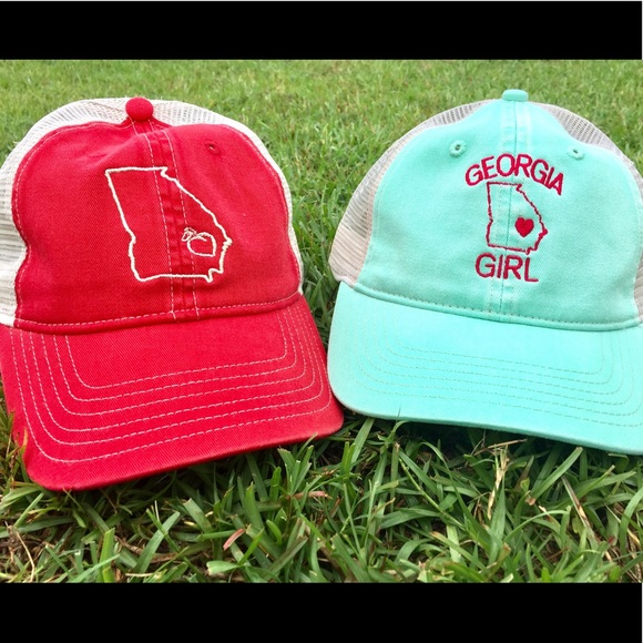 71cff1bd Comfort Color Accessories - Georgia state and Georgia Girl trucker hats