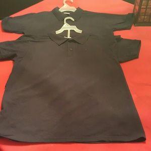 Other - 2 navy blue school uniform shirts kid size xl