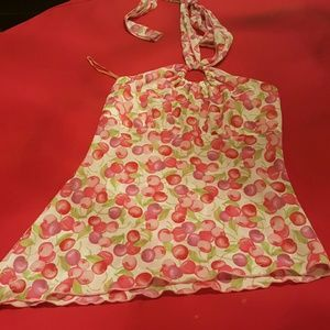 Tops - cute ladies halter top size small pre_owned