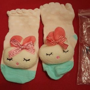 Other - very cute Infant bunny socks 0/6 mos pre-owned