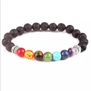 Jewelry - Lava Stone Chakra Healing Balance Yoga Bracelet