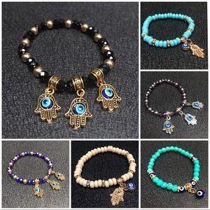 Hamsa evil eye charm bracelets