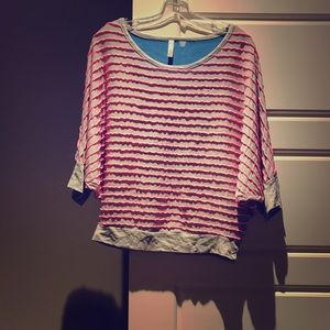 Tops - Pink and blue top