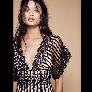 Free People Special Edition Black Nude SilkLined 0