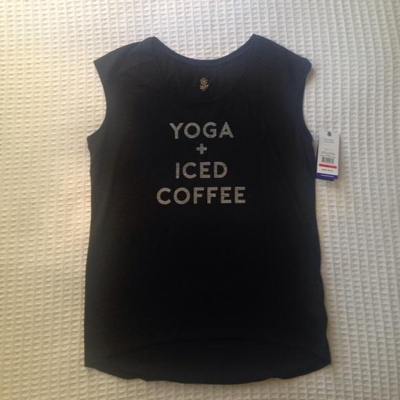 GAIAM Tops - NWT Gaiam yoga + iced coffee black tee size S