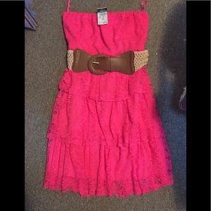 Rue 21 Strapless pink dress