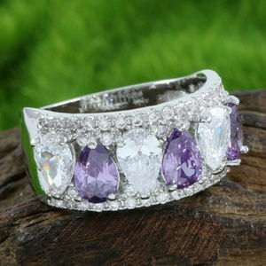 Jewelry - 14k White Gold Filled, Amethyst & White Sapphire