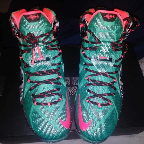 check out 1483c 930e1 Lebron 12 xmas NWT