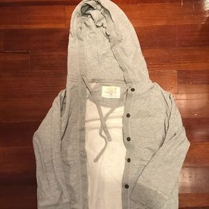 J. Crew rumpled French terry jacket