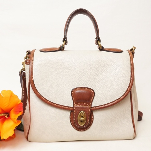 dc2cf81c63e1 Coach Handbags - RARE COACH VINTAGE OFF WHITE CROSSBODY SATCHEL BAG