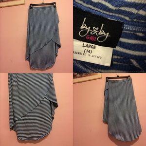 Dresses & Skirts - Blue striped skirt