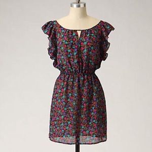 Anthropologie Maple Double Keyhole Dress Sz Small