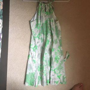Crewcuts green floral dress