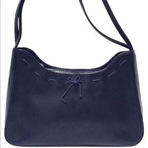 Vintage Tiffany & Fred Paris leather shoulder bag