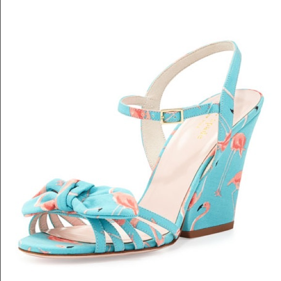 6d14134f7082 kate spade Shoes - Kate Spade Indie Flamingo Wedge Sandals Turquoise