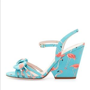 4b3f37ec8121 kate spade Shoes - Kate Spade Indie Flamingo Wedge Sandals Turquoise