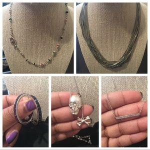 Jewelry - Silver Jewelry Bundle Necklace and Earrings