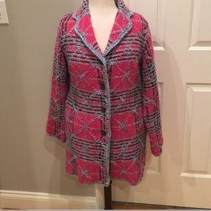 Plaid boucle' jacket