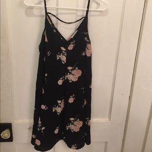 Semi Sheer floral dress