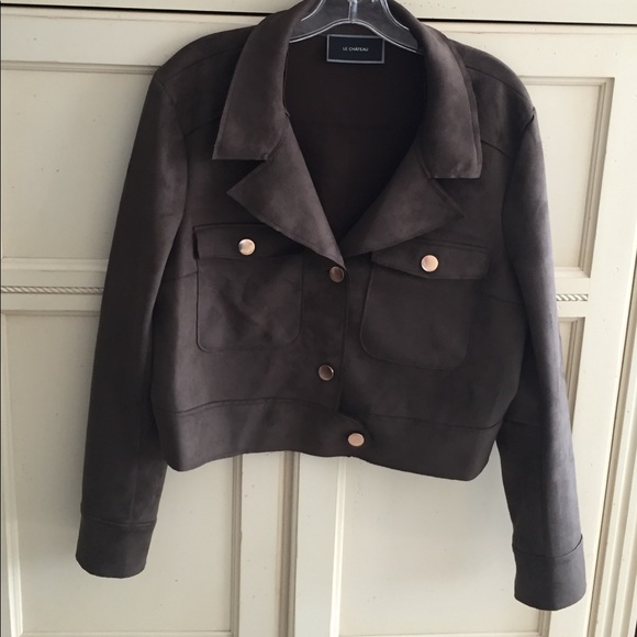 719fb80df Le Chateau micro suede military jacket