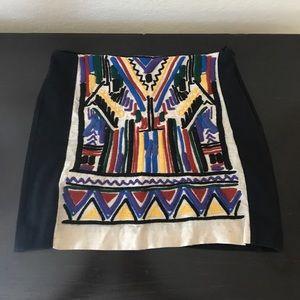 Zara W&B Collection Tribal Skirt