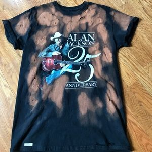 Tops - Alan Jackson distressed and bleached Tshirt