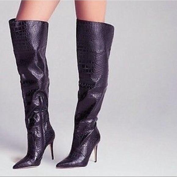 7abb2100a33 Bebe black Lilan Thigh High Boots