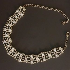 Jewelry - Bling 5 Row Cubic Zirconia Bridal Choker Necklace