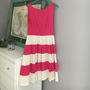 kate spade pink + cream dress