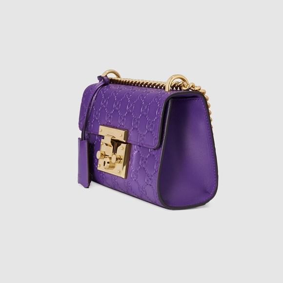 a20d76327662 Gucci Handbags - Padlock Gucci Signature shoulder bag in purple