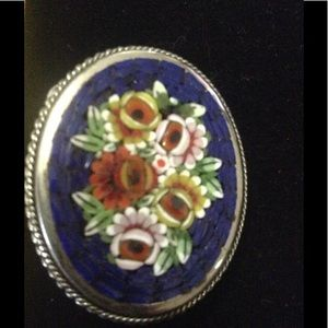 Jewelry - Micro Mosaic Estate Brooch..Hand Made from Italy