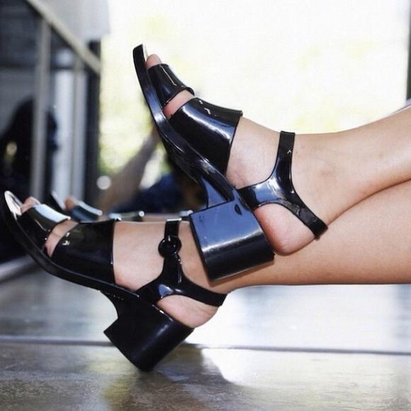 92e2e1ed0da4 NWT American Apparel Classic Jelly heel black